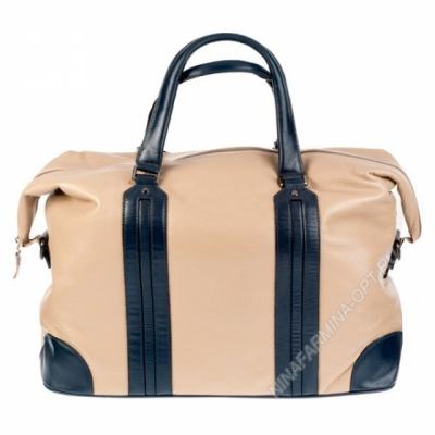 Дорожная сумка кожаная 8241-3-apricot-grey