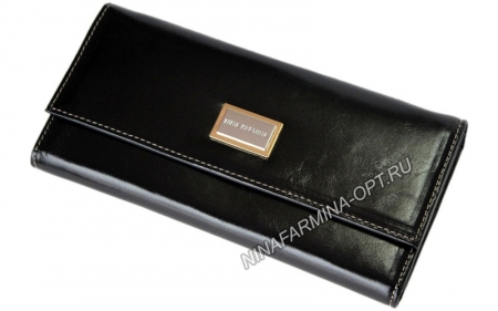 Кошелёк 9280J_Black масляная кожа