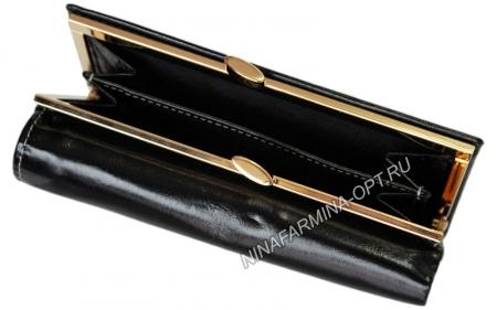 Кошелёк 9282J_Black масляная кожа