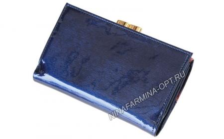 Кошелёк 9282K_Dark_Blue Лакированная кожа