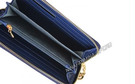 Кошелёк 9285K_Dark_Blue Лакированная кожа