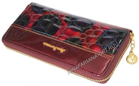 Кошелёк 9285K_Red Лакированная кожа