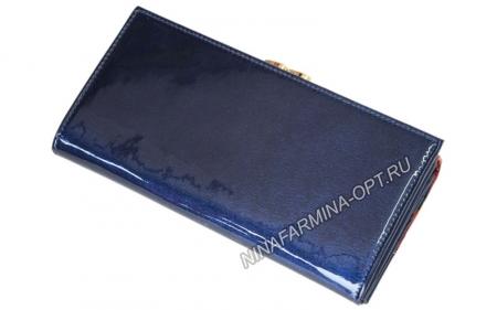 Кошелёк 9287K_Dark_Blue Лакированная кожа