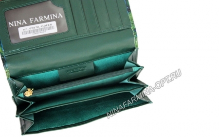 Кошелёк 9287K_Green Лакированная кожа