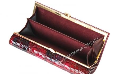 Кошелёк 9287K_Red Лакированная кожа