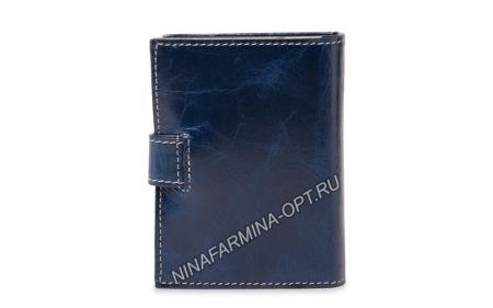 Визитница из Масленой кожи NF-1028J-Dark-blue