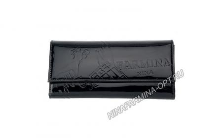 Кошелёк nf-9280-p-black Лакированная кожа