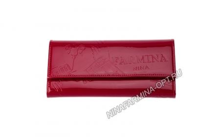 Кошелёк nf-9280-p-red Лакированная кожа