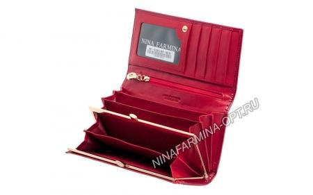 Кошелёк nf-9281-p-red Лакированная кожа