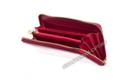 Кошелёк nf-9285-p-red Лакированная кожа