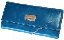 Кошелёк 9280J_Sky_Blue масляная кожа