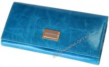 Кошелёк 9281J_Sky_Blue масляная кожа