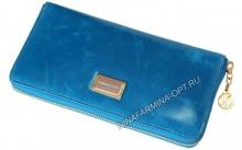 Кошелёк 9285J_Sky_Blue масляная кожа