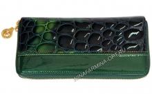 Кошелёк 9285K_Green Лакированная кожа