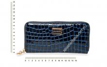 Кошелёк 9285_095 лаковая-кожа-крокодила-с-тиснением