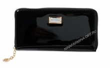 Кошелёк nf-9285-030-black Лакированная кожа