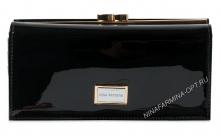 Кошелёк nf-9287-030-black Лакированная кожа