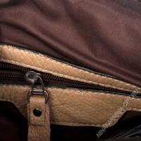 Дорожная сумка кожаная xl8597-apricot-grey