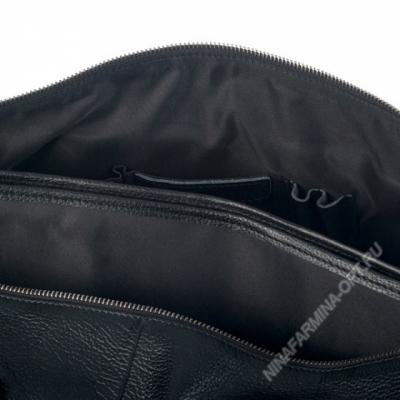 Дорожная сумка кожаная xl8599-black
