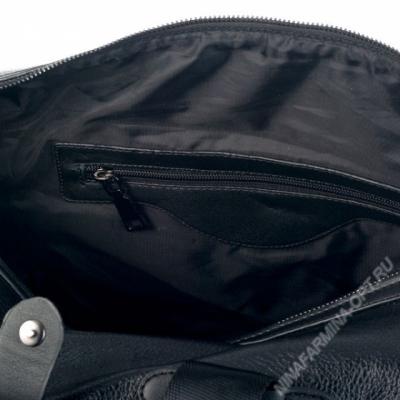 Дорожная сумка кожаная xl8601-black_kz