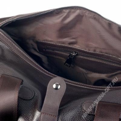 Дорожная сумка кожаная xl8601-brown-kz