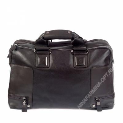 Дорожная сумка кожаная xl8602-brown